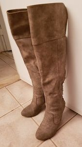 Over the Knee Lace Up Boots Heeled